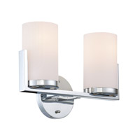 Caesarea 2 Light 14 inch Chrome Vanity Wall Light