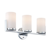 Caesarea 3 Light 22 inch Chrome Vanity Wall Light