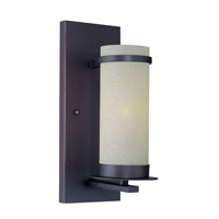 Lite Source Montego 1 Light Wall Lamp in Dark Bronze with Glass Shade LS-16821