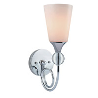 Lite Source Holly 1 Light Wall Lamp in Chrome with Frost Glass Shade LS-16830