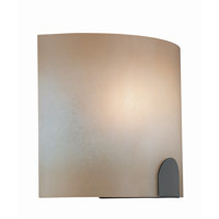Lite Source Kennita 1 Light Sconce in Bronze with Light Amber Glass Shade LS-16879