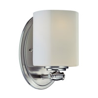 Lite Source Denali 1 Light CFL Wall Lamp in Polished Steel with Frost Glass Shade LS-16881PS/FRO