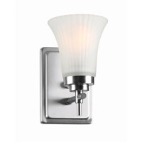 Lite Source Bendek 1 Light Wall Lamp in Satin Steel with Frost Glass Shade LS-16941SS/FRO