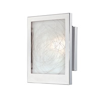 Lite Source LS-16949 Paola 1 Light 8 inch Chrome and Aluminium ADA Wall Sconce Wall Light