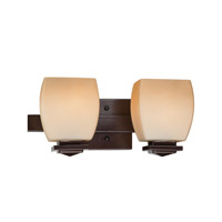 Orazio 2 Light 14 inch Dark Bronze Vanity Wall Light