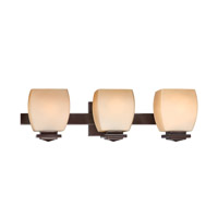 Lite Source Orazio 3 Light Vanity in Dark Bronze with Amber Glass LS-16963