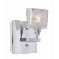 Lite Source Iskyla 1 Light Wall Lamp in Chrome with Sand Blasted Glass Shade LS-16981C/CLR