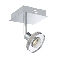 Lite Source Elettra LED Wall Lamp in Chrome with Clear Glass Shade LS-16998