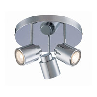 Lite Source Oksana 3 Light Flush Mount in Chrome LS-17153C