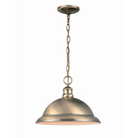 Lite Source Minuteman 1 Light Pendant in Antique Brass LS-17650AB