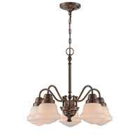Lite Source LS-18742 Towne 5 Light 22 inch Antique Copper Chandelier Ceiling Light