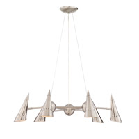 Talbot 6 Light 28 inch Polished Steel Chandelier Ceiling Light
