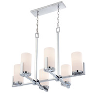 Caesarea 6 Light 21 inch Chrome Chandelier Ceiling Light