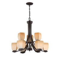 Orazio 9 Light 27 inch Dark Bronze Chandelier Ceiling Light