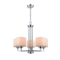 Lite Source Darra 5 Light Chandelier in Chrome with Frost Glass Shade LS-19165