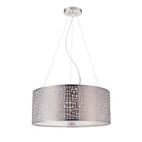 Torre 3 Light 20 inch Polished Steel Pendant Ceiling Light