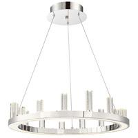 Lite Source LS-19221 Elina 1 Light 25 inch Chrome Pendant Ceiling Light