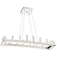 Lite Source LS-19222 Elina 1 Light 35 inch Chrome Pendant Ceiling Light