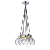 Lite Source Erix LED Chandelier in Chrome with Clear Glass LS-19227