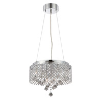Lite Source Saturnus 9 Light Pendant in Chrome and Glass with Crystal LS-19280
