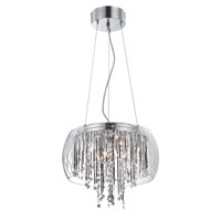 Lite Source Belladonna 8 Light Pendant in Chrome and Glass with Crystal LS-19281