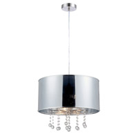 Riviera 2 Light 18 inch Polished Steel Pendant Ceiling Light