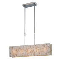Lite Source Schale 5 Light Pendant in Polished Steel with Shell Mosaic Shade LS-19385