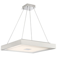Lite Source LS-19516 Halona 1 Light 21 inch Chrome and Aluminium Pendant Ceiling Light