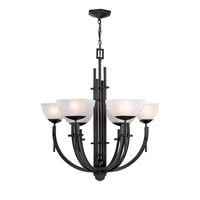 Signature 6 Light 27 inch Dark Bronze Chandelier Ceiling Light