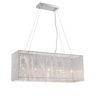 Lite Source LS-19578 Rania 5 Light 10 inch Chrome Chandelier Ceiling Light