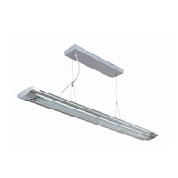 Lite Source Devika 2 Light Pendant in Silver and Clear LS-19681SILV