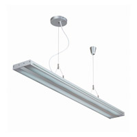 Lite Source LS-19689SILV Giada 2 Light 47 inch Silver and Clear Pendant Ceiling Light