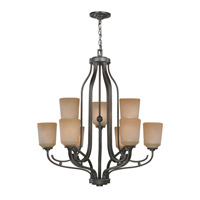 Rupert 9 Light 30 inch Dark Bronze Chandelier Ceiling Light