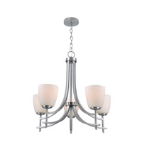 Cade 5 Light 25 inch Polished Steel Chandelier Ceiling Light