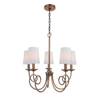 Lite Source Erika 5 Light Chandelier in Antique Copper with Fabric Shade LS-19815