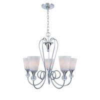 Lite Source Holly 5 Light Chandelier in Chrome with Frost Glass Shade LS-19835