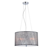 Lola II 3 Light 18 inch Chrome Pendant Ceiling Light
