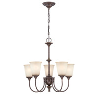 Lite Source Sullivan 5 Light Chandelier in Aged Gold with Light Amber Glass LS-19898