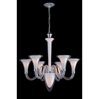Lite Source Perlita 7 Light Chandelier in Frost and Clear Glass LS-19996