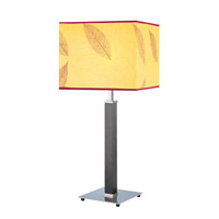 Autumn 27 inch 60 watt Polished Steel Table Lamp Portable Light