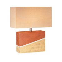 Hestia 19 inch 100 watt Two Tone Ceramic Table Lamp Portable Light