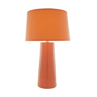 Ashanti 27 inch 150 watt Orange Table Lamp Portable Light