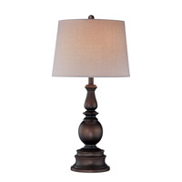 Breyon 31 inch 150 watt Dark Bronze Table Lamp Portable Light