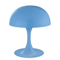Lite Source Cutie 1 Light Table Lamp with Blue Metal Shade LS-21095BLU