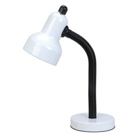 Lite Source Goosy 1 Light Desk Lamp in White LS-211WHT