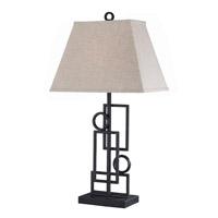 Lite Source Plato 1 Light Table Lamp in Dark Bronze with Linen Shade LS-21207