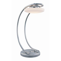 Lite Source Polina 1 Light Desk Lamp in Polished Steel with Frost Glass Shade LS-21412PS/FRO