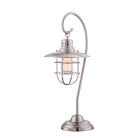 Lanterna 23 inch 60 watt Polished Steel Table Lamp Portable Light