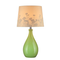 Edaline 23 inch 13 watt Green Ceramic Table Lamp Portable Light