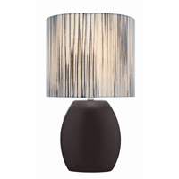 Lite Source Reiko 1 Light CFL Table Lamp in Black with Clored Fabric Shade LS-21506BLK